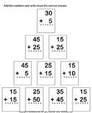 Adding Two Two-digit Numbers - addition - First Grade