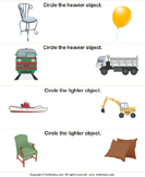 Comparing Objects by Weight