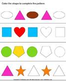 Complete Patterns by Coloring the Missing Shapes