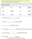 Choose the Correct Verb - Is, Am, Are - verb - First Grade