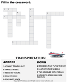 Complete the Crossword Transportation
