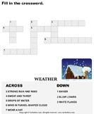 Complete the Crossword - spelling - First Grade
