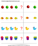 Identify Pattern - shapes - Preschool