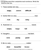 17 Best images about Adjectives Worksheets on Pinterest | Grammar ...