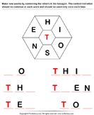 Complete the Word with Letters H I O S N E
