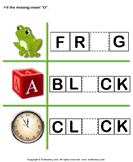 Fill in the Missing Vowel - phonics - Kindergarten