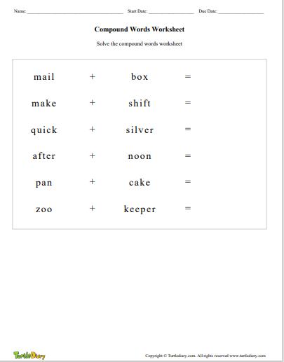 Compound Words - compound-words - Fourth Grade