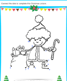 Christmas Connect the Dots by Number - christmas - Preschool