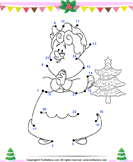 Christmas Connect the Dots by Number - christmas - Kindergarten
