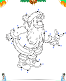 Connect the Dots Santa