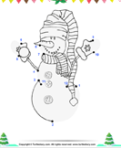 Connect the Dots Snowman with Scarf