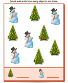 Count How Many Snowman Are There