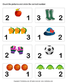 Count Pictures - whole-numbers - Preschool