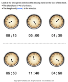 Draw Minute Hand of Clock - units-of-measurement - First Grade