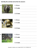 Write the Names of Dog Family Animals - animals - Second Grade