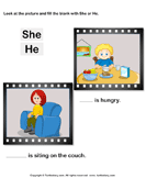 Fill in the Blank with She or He
