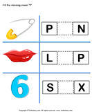 Fill in the Missing Vowel I