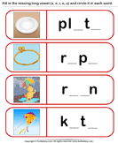 Fill Missing Vowel and Circle the Long Vowel