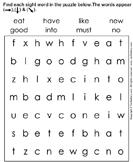 Sight Words Puzzle - sight-word - Kindergarten