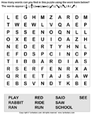Find the Words in the Puzzle - spelling - First Grade