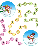 Winter Puzzles - winter - First Grade