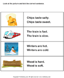Choose the Sentence with Correct Adjective - adjectives - First Grade
