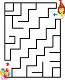 New Year Mazes - new-year - Kindergarten
