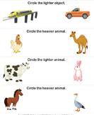 Heavier and Lighter Animals