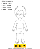 Color the Human Body - the-human-body - Preschool