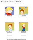 Personal Hygiene: Sequence the Pictures - the-human-body - First Grade