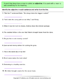 Identify and Write Adjectives
