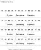 Identify Growing Decreasing or Repeating Patterns