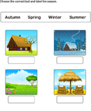 Label the Correct Season - units-of-measurement - Kindergarten