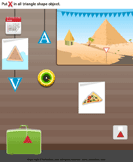 Identify Triangle Shaped Objects