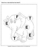 Identifying Letter E
