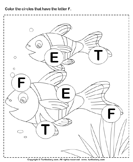 Identifying Letter F