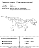 Dinosaurs - Determine the Period and Food Habits - animals - First Grade