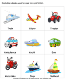 Land Transport - transportation - Kindergarten