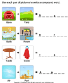 Make a Compound Word - compound-words - Kindergarten