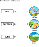 Match Months with Pictures of Seasons