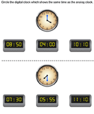 Matching Clocks to Nearest Hour and Half Hour