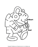 Maze Worksheet for Kids