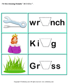 Missing Vowels A E I O U