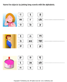 Connect the Long Vowels - phonics - First Grade