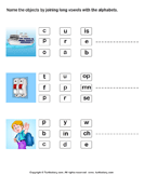 Name of Pictures by Connecting Long Vowels with Alphabets