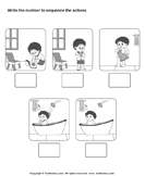 Picture Sequence - vocabulary - Kindergarten