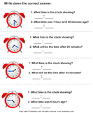 Read Analog Clock and Find End Time