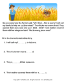 Read Comprehension Sparrow and Farmer and Answer the Questions