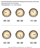 Draw Minute Hand of Clock