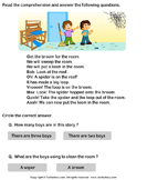Reading Comprehension Stories - reading - Kindergarten